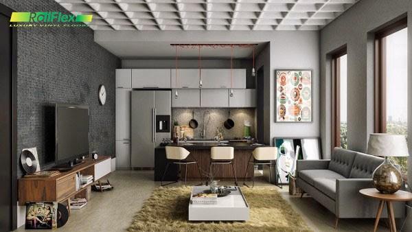 Mẫu nội thất phòng khách đẹp với không gian mở