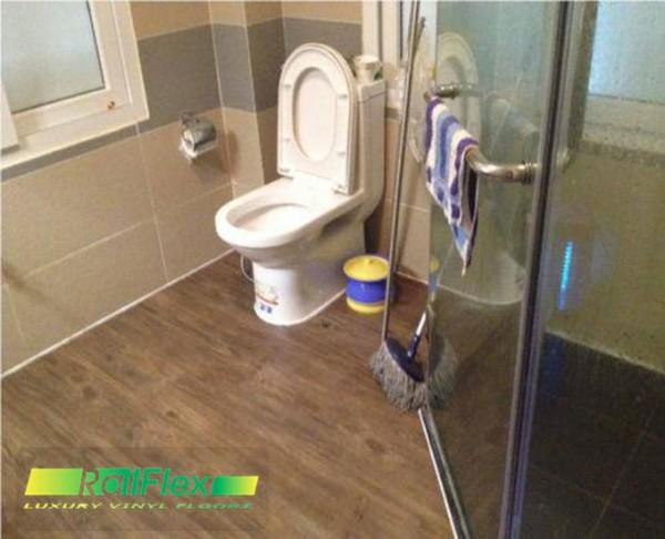 Sàn nhựa lắp đặt cho phòng tắm