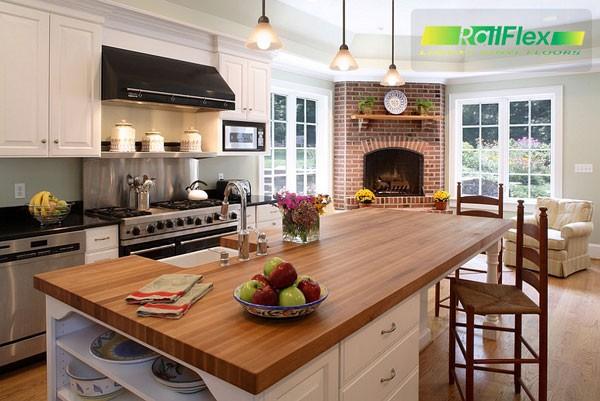 Không gian thanh lịch để thư giãn trong nhà bếp hiện đại